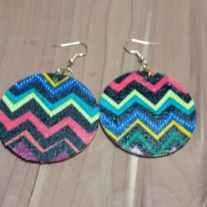 💕3/15💕 wood and cloth earrings